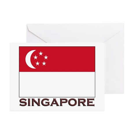 Singapore Flag Stuff Greeting Cards (Pk of 10)