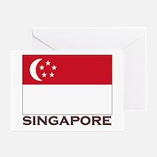 Singapore Flag Stuff Greeting Cards (Pk of 10)