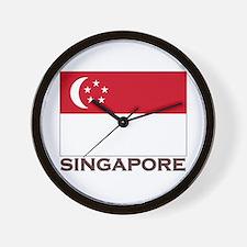 Singapore Flag Stuff Wall Clock