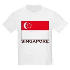 Singapore Flag Stuff Kids T-Shirt