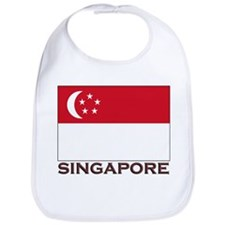 Singapore Flag Stuff Bib