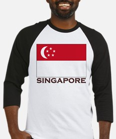 Singapore Flag Stuff Baseball Jersey
