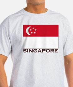 Singapore Flag Stuff Ash Grey T-Shirt