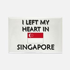 I Left My Heart In Singapore Rectangle Magnet