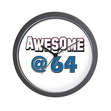 awesome at 64 wall clock by colossustees