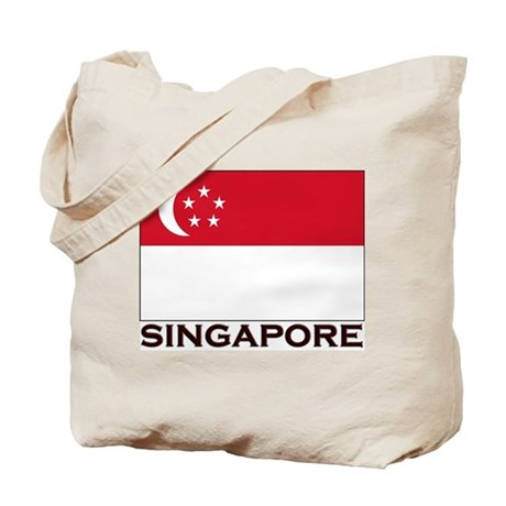 Singapore Flag Gear Tote Bag