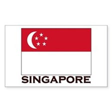 Singapore Flag Gear Rectangle Decal