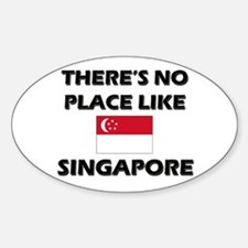 There Is No Place Like Singapore Oval Decal