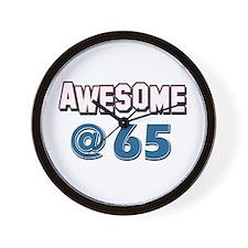 Awesome at 65 Wall Clock
