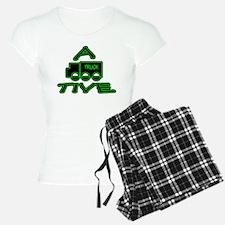 A-TRUCK-TIVE funny attractive logo - green black W