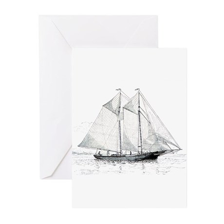 American Fishing Schooner Greeting Cards (Pk of 10