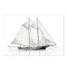 American Fishing Schooner Postcards (Package of 8)