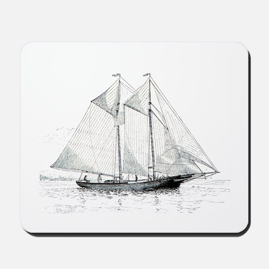 American Fishing Schooner Mousepad