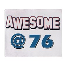 Awesome at 76 Throw Blanket