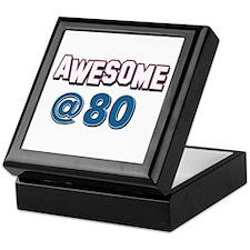 Awesome at 80 Keepsake Box