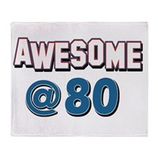 Awesome at 80 Throw Blanket