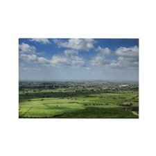 View from Glastonbury Torr Rectangle Magnet