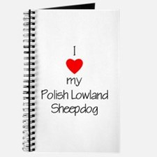 I Love My Polish Lowland Sheepdog Journal