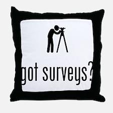 Land Surveyor Throw Pillow