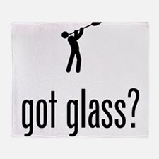 Glass Making Throw Blanket
