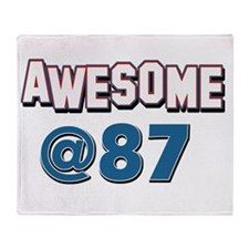 Awesome at 87 Throw Blanket