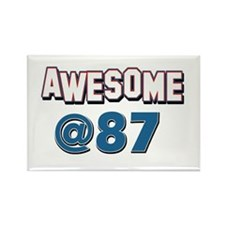 Awesome at 87 Rectangle Magnet (100 pack)