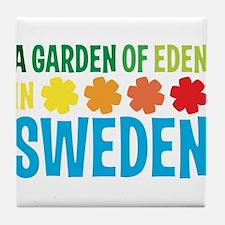 A Garden of Eden in Sweden Tile Coaster