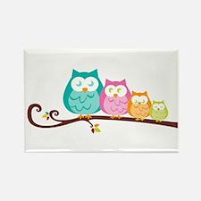 Owl family Rectangle Magnet