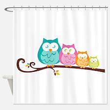 Owl family Shower Curtain