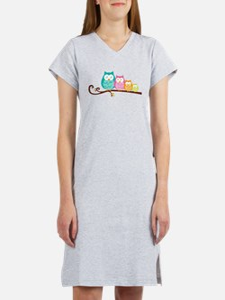 Owl family Women's Nightshirt