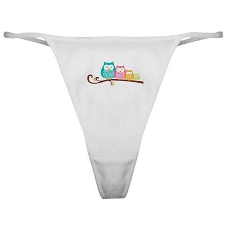 Owl family Classic Thong