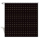 African brown Shower Curtains