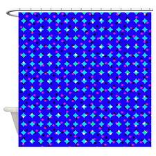 Blue Confetti Shower Curtain