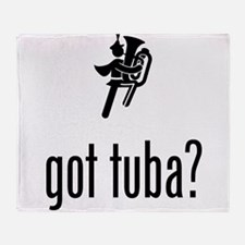 Tuba Player Throw Blanket
