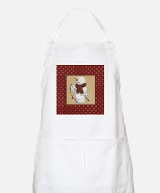 Snowman With Lights Apron