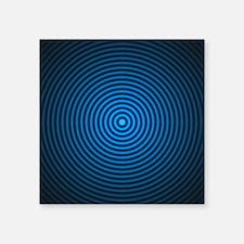 """Blue Vertigo Square Sticker 3"""" x 3"""""""