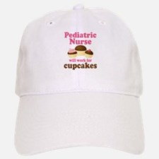 Pediatric Nurse Funny Baseball Baseball Cap