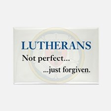 Lutherans Not Perfect Just Forgiven Rectangle Magn
