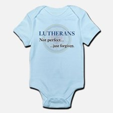 Lutherans Not Perfect Just Forgiven Infant Bodysui