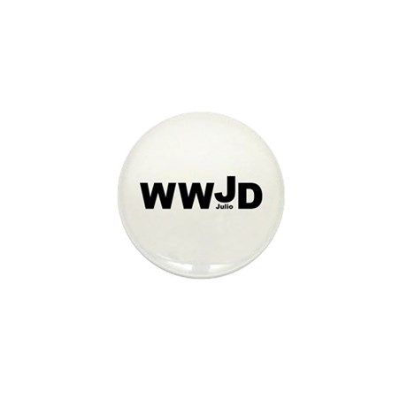 WWJD Julio Mini Button