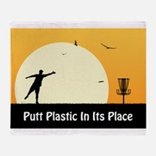 Putt Plastic In Its Place #5 Throw Blanket
