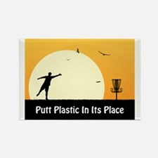 Putt Plastic In Its Place #5 Rectangle Magnet (100