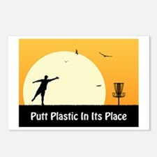 Putt Plastic In Its Place #5 Postcards (Package of