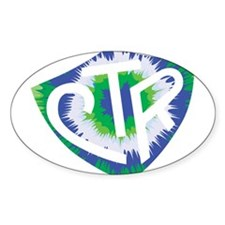 Tie Dye LDS CTR Ring Shield Blue Green Decal