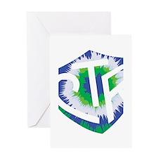 Tie Dye LDS CTR Ring Shield Blue Green Greeting Ca