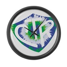 Tie Dye LDS CTR Ring Shield Blue Green Large Wall