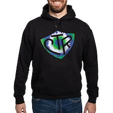 Tie Dye LDS CTR Ring Shield Blue Green Hoodie