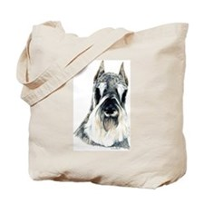 Schnauzer Dog Portrait Tote Bag