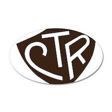 CTR Ring Shield Black Wall Decal