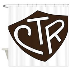 CTR Ring Shield Black Shower Curtain